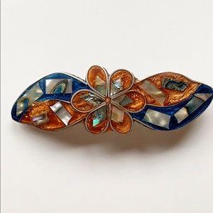 Plated Seashell Glaze Barrette
